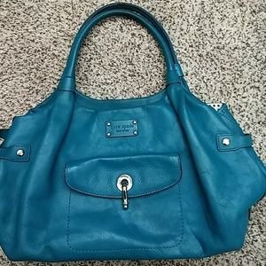 Kate Spade teal color handbag